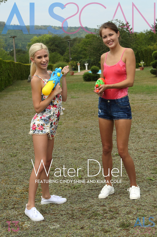 ALS Scan - Cindy Shine, Kiara Cole in Water Duel