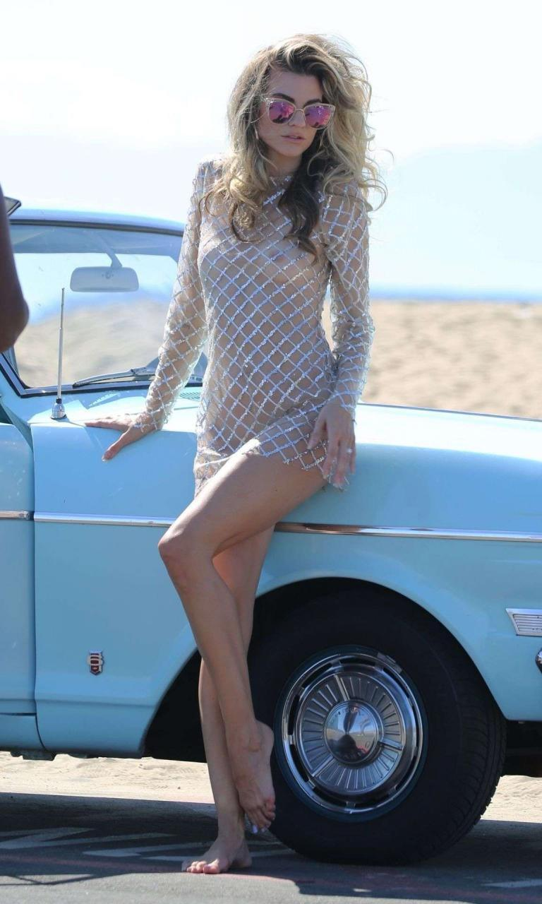 Rachel McCord in See Through for a Beach Photoshoot in Los Angeles 2 rlmblY