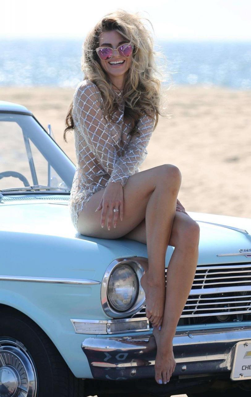 Rachel McCord in See Through for a Beach Photoshoot in Los Angeles 4 I56o3J