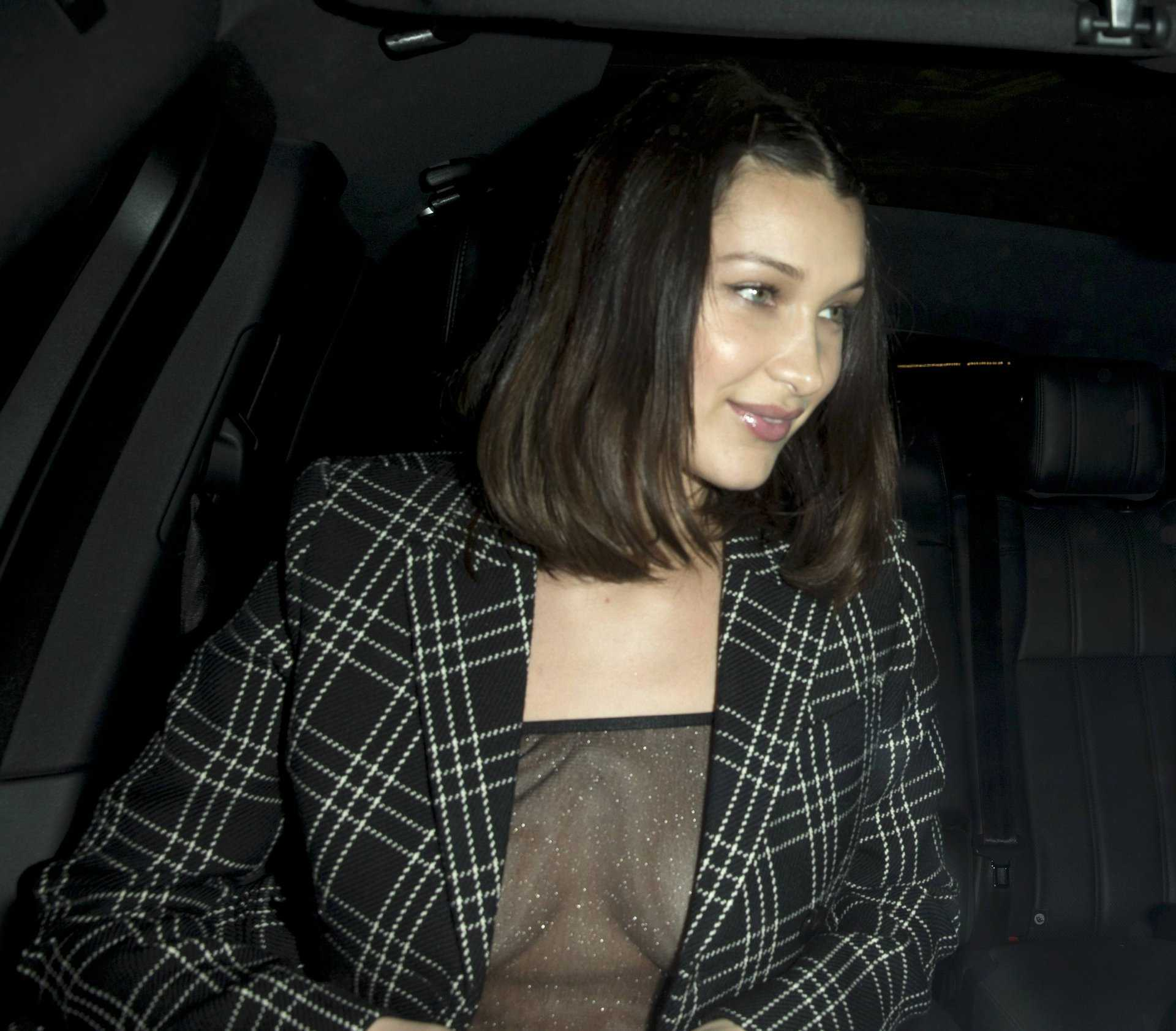Bella Hadid See-Through Candids in West Hollywood