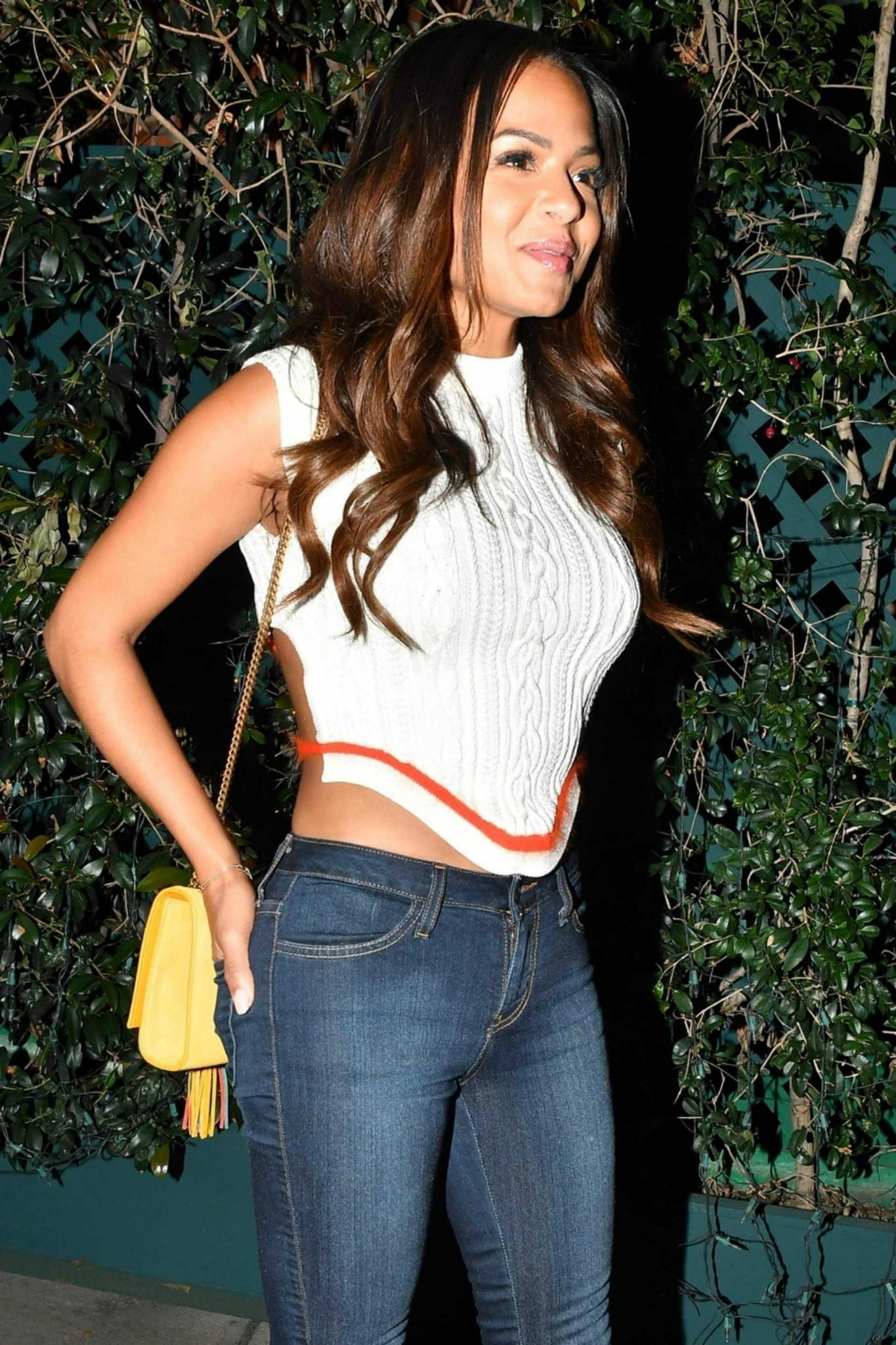 Christina Milian After Dinner at Mr Chow in Beverly Hills