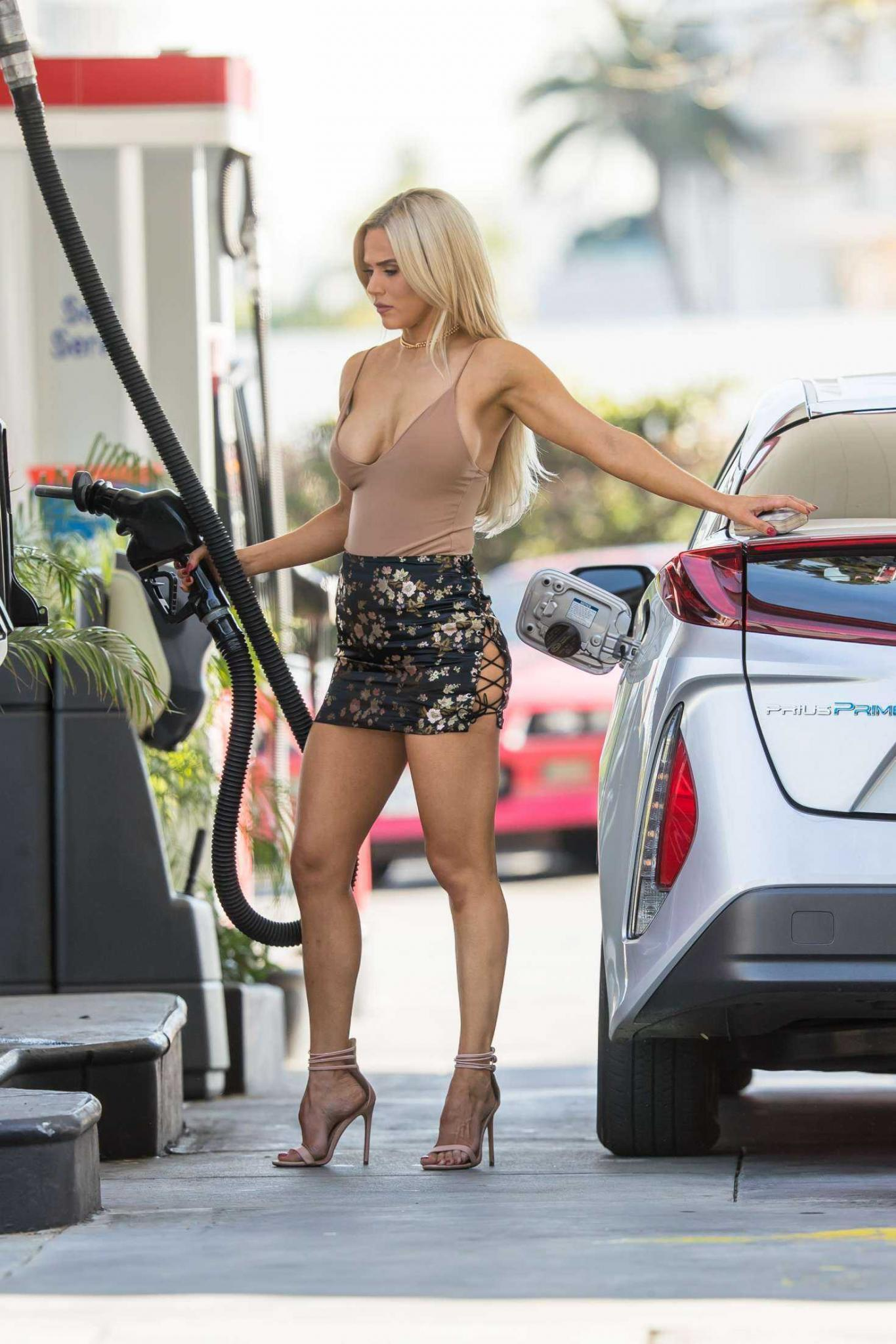 CJ Perry Lana Leggy at Gas Station in Beverly Hills