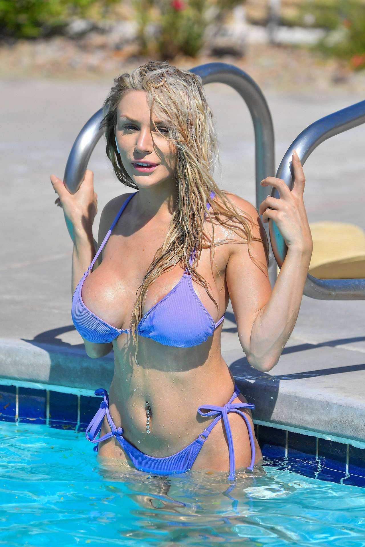 Courtney Stodden in a Small Bikini at a Pool in Palm Springs