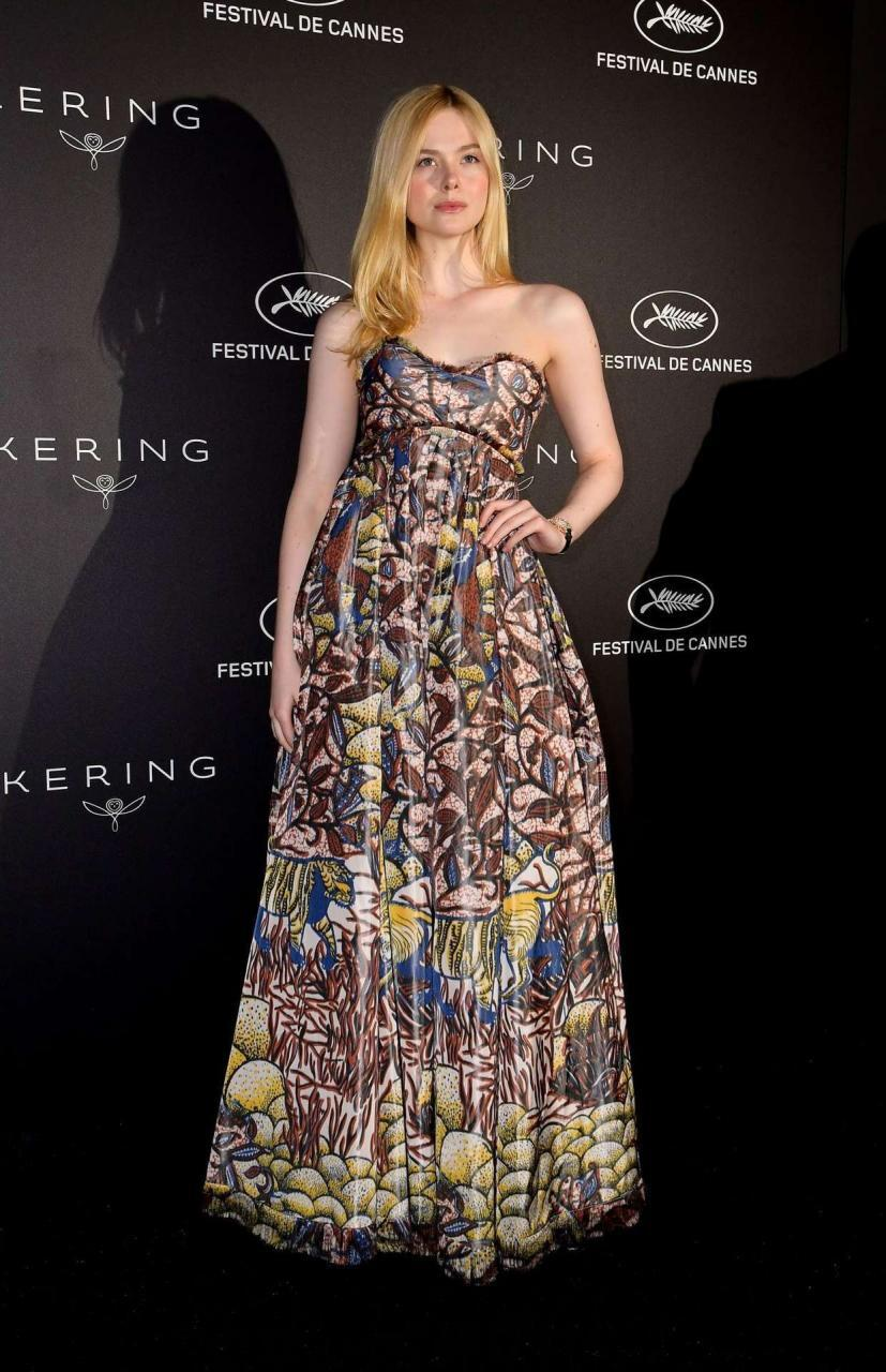 Elle Fanning at Kering Women In Motion Awards, 72nd Annual Cannes Film Festival