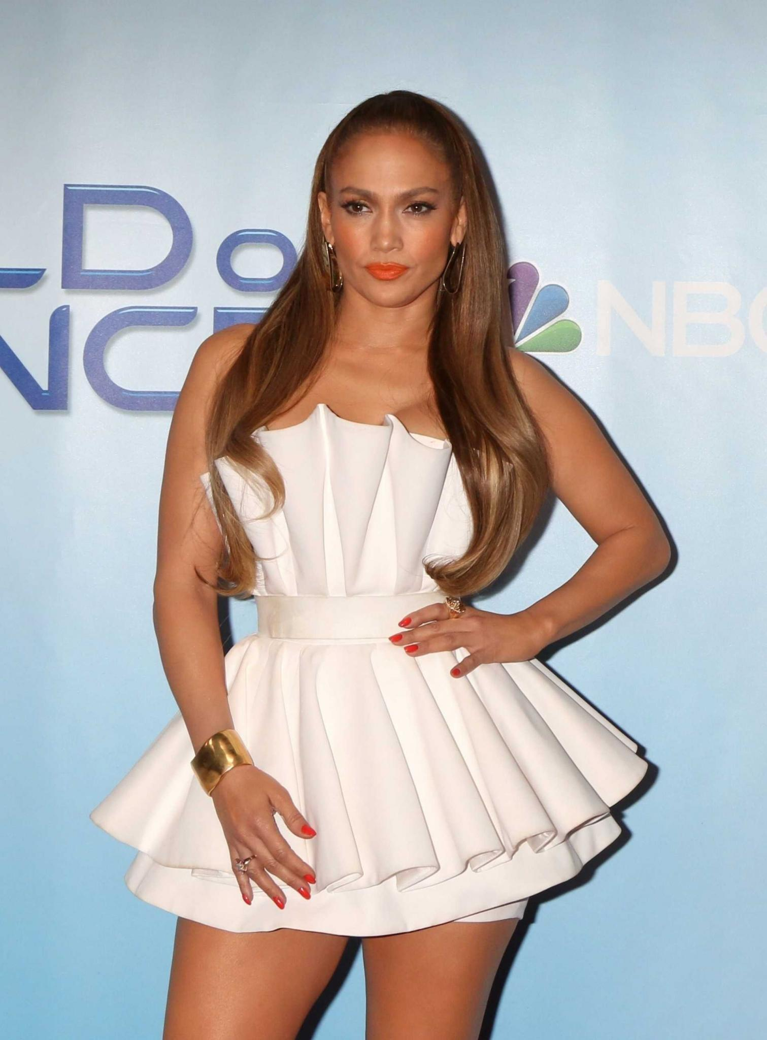 Jennifer Lopez Leggy at Photocall of World of Dance in Los Angeles