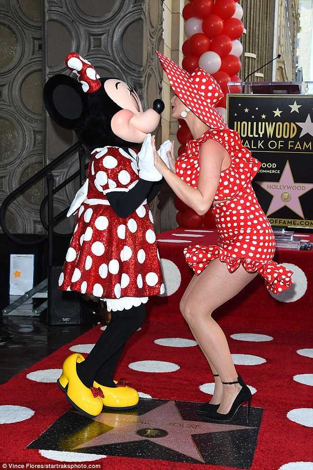 Katy Perry at Minnie Mouse Hollywood Walk of Fame Ceremony in Hollywood