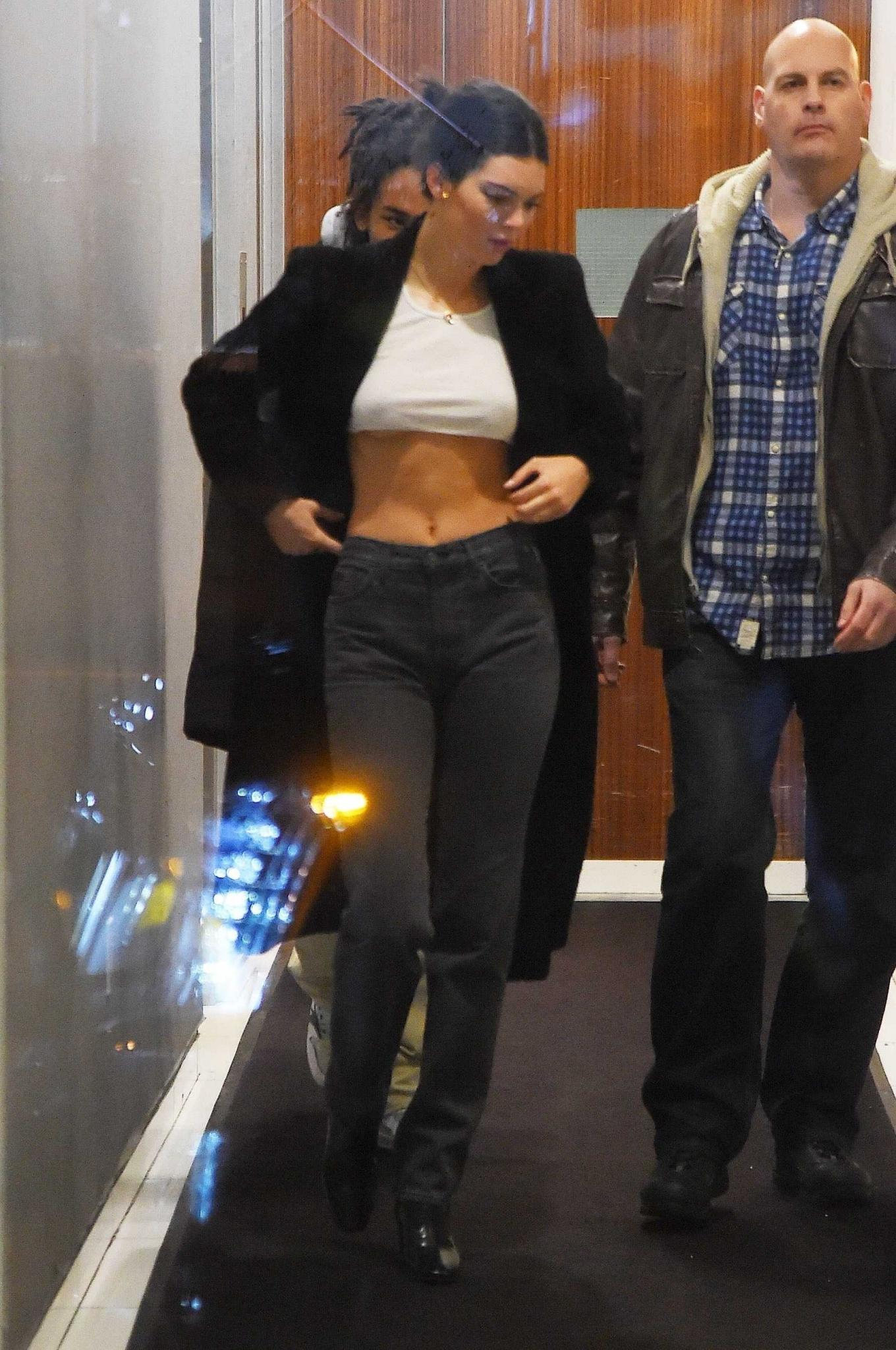 Kendall Jenner Braless Out in New York