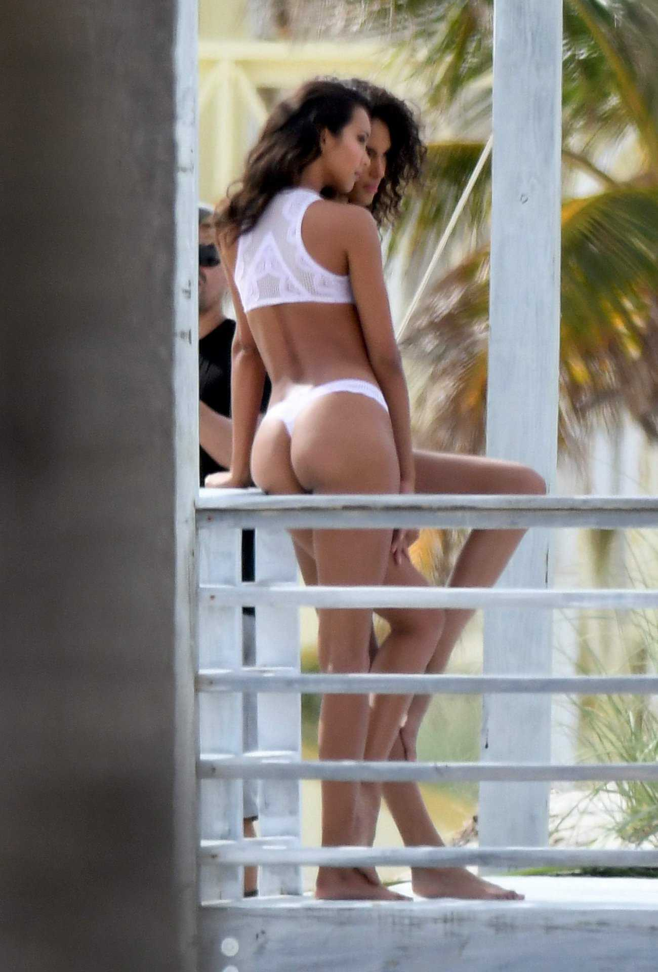 Lais Ribeiro and Cindy Bruna for Lingerie Photoshoot in Miami