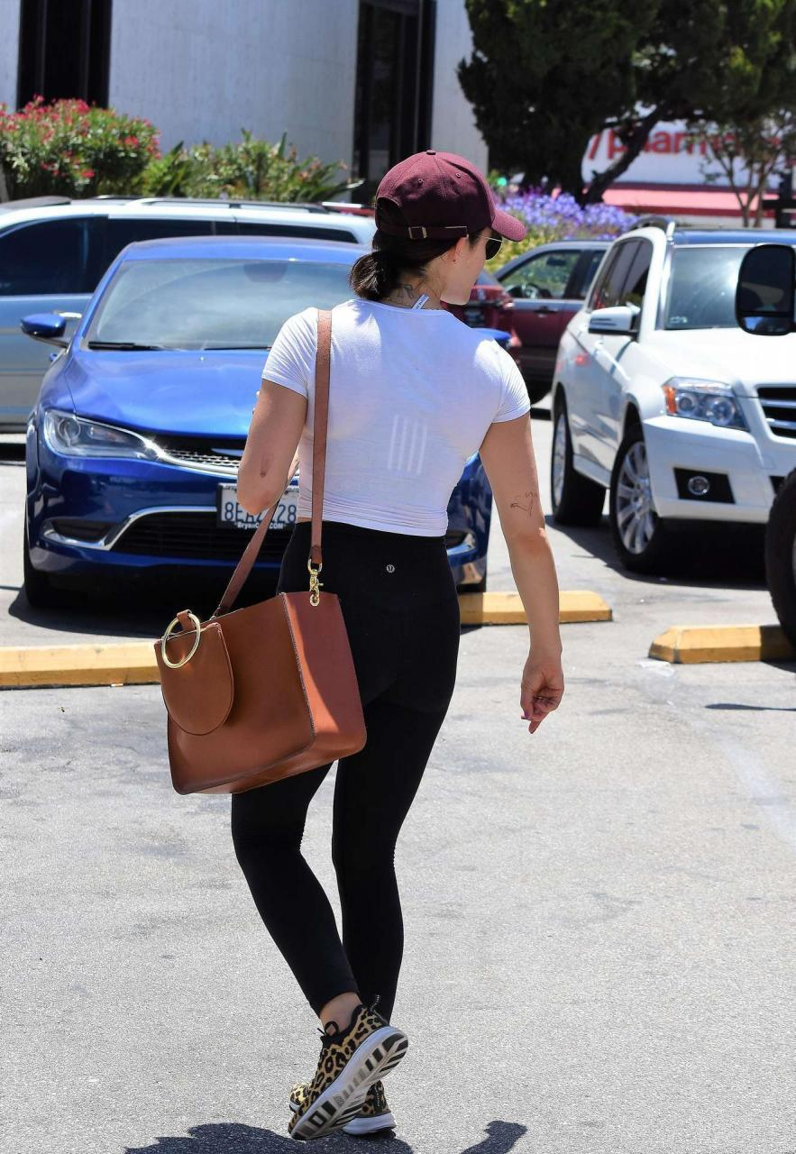 Lucy Hale Booty in Tights, Out in Studio City