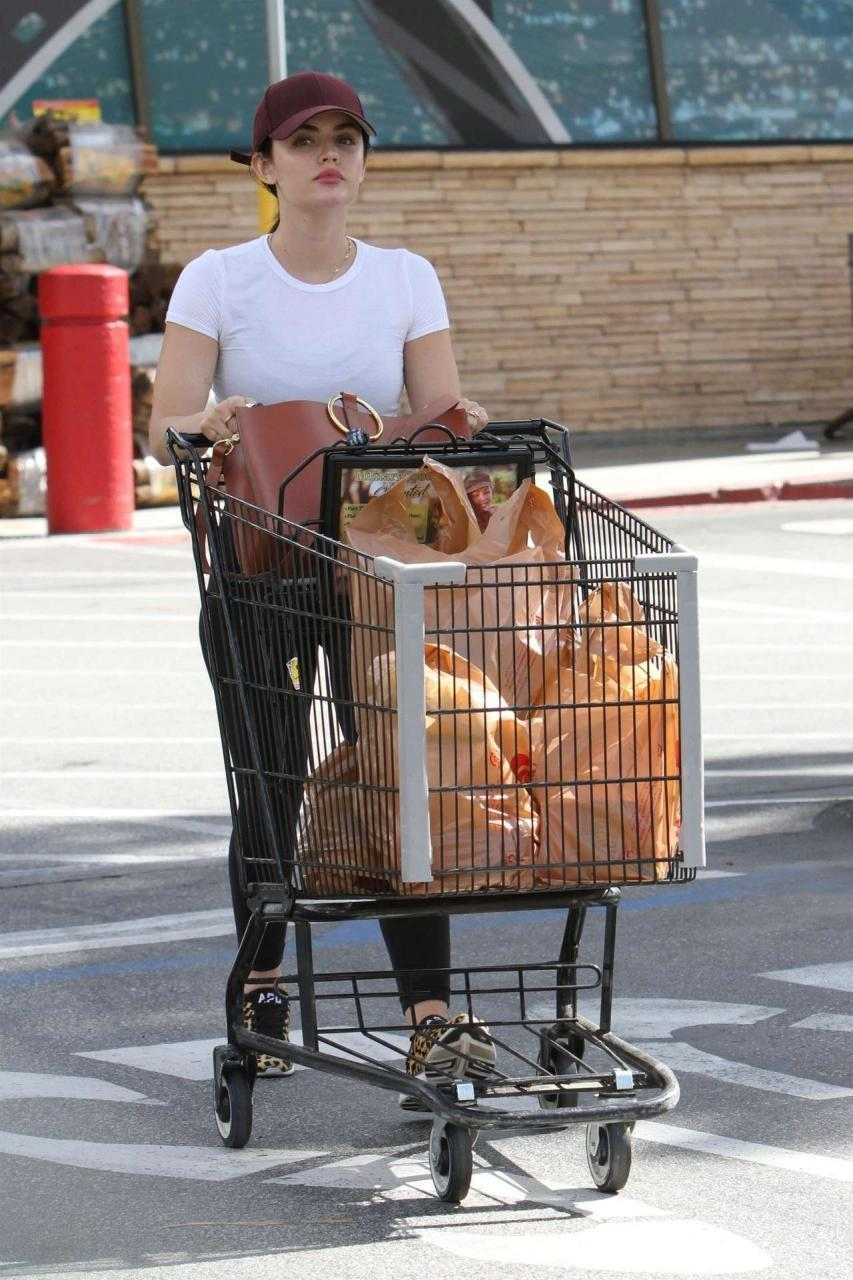Lucy Hale Grocery Shopping at Ralphs Supermarket in Los Angeles