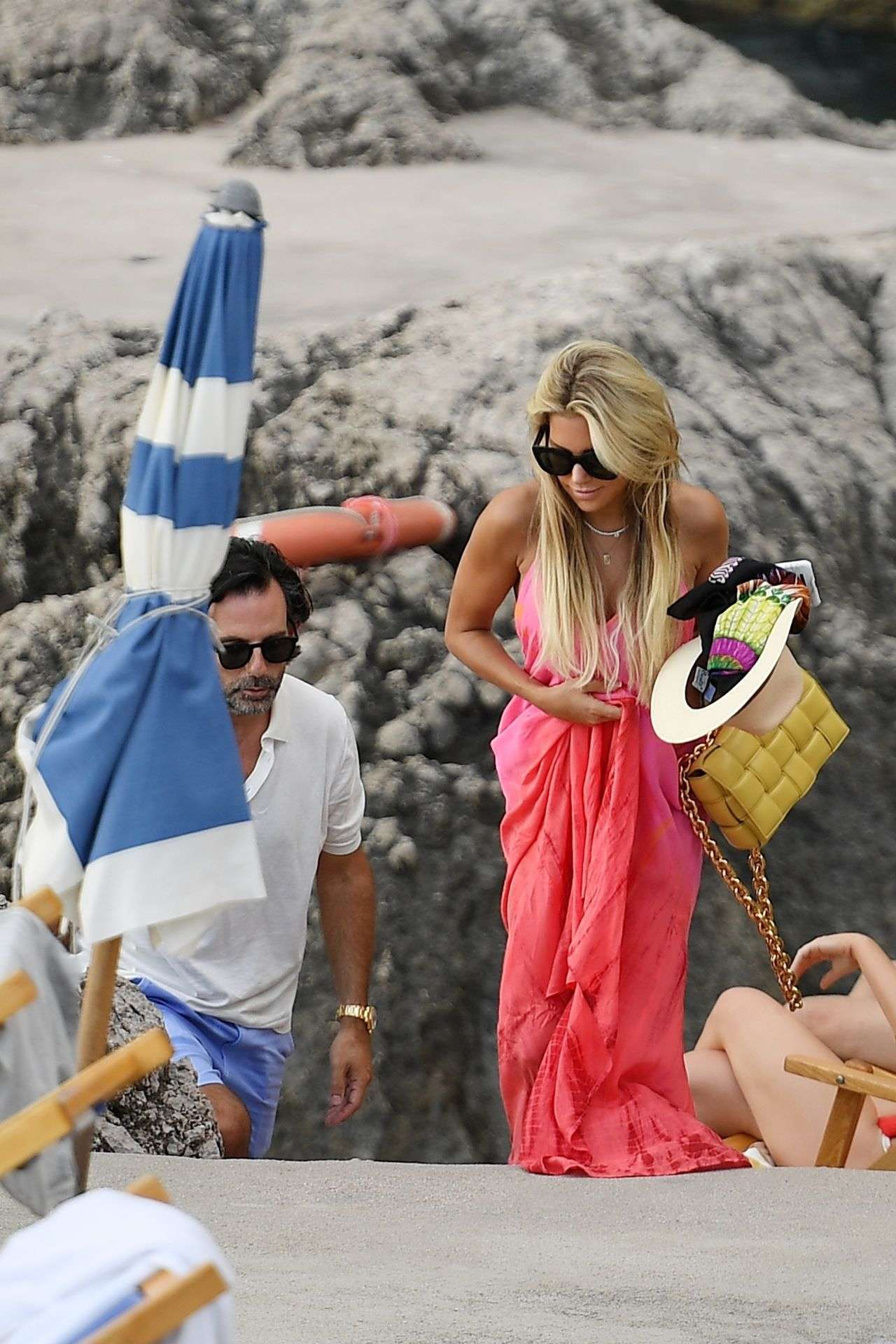 Sylvie Meis in Bikini and Niclas Castello Are Spotted During Their Honeymoon in Capri