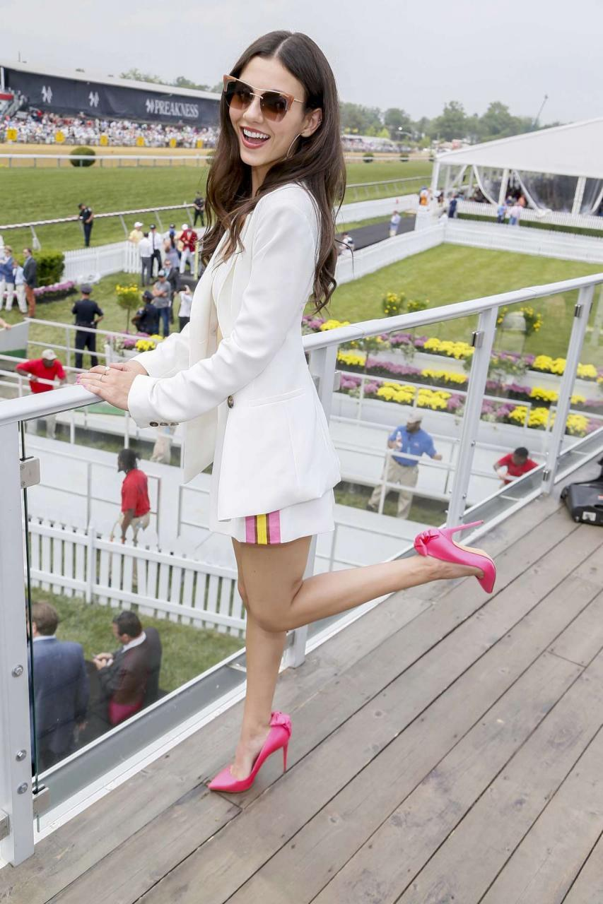 Victoria Justice at 144th Preakness Stakes in Baltimore